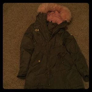Large dark green winter jacket